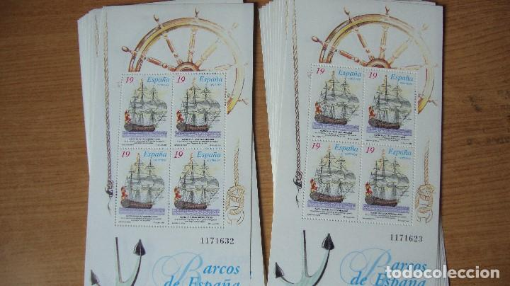 ESPAÑA LOTE 10 HOJITAS BARCOS EDIFIL 3352/53 NUEVAS PEFECTAS MISMA NUMERACION (Sellos - España - Juan Carlos I - Desde 1.975 a 1.985 - Nuevos)