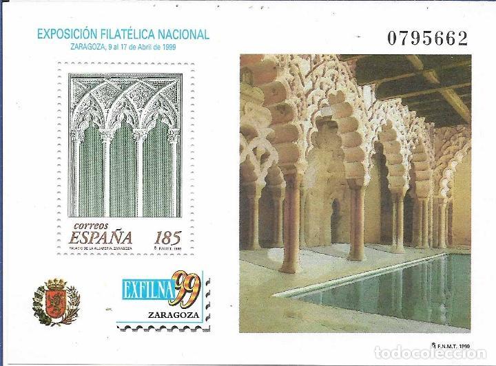 EXFILNA 1999, ZARAGOZA. NUEVO CON GOMA. (Sellos - España - Juan Carlos I - Desde 2.000 - Nuevos)