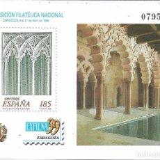 Sellos: EXFILNA 1999, ZARAGOZA. NUEVO CON GOMA.. Lote 171260569