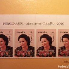 Sellos: ESPAÑA 2019 - PERSONAJES - MONTSERRAT CABALLÉ - MÚSICA, CANCIÓN LÍRICA.. Lote 171365872