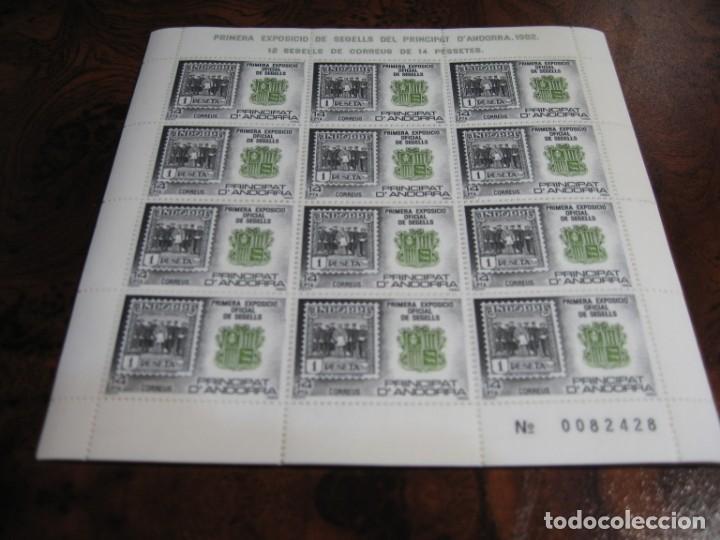 10 MINIPLIEGOS DE LA PRIMRA EXPOSICIÓN DE SELLO EN EL PRINCIPADO DE ANDORRA 1982 (Sellos - España - Juan Carlos I - Desde 1.975 a 1.985 - Nuevos)