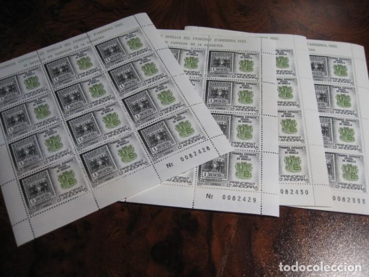 Sellos: 10 MINIPLIEGOS DE LA PRIMRA EXPOSICIÓN DE SELLO EN EL PRINCIPADO DE ANDORRA 1982 - Foto 2 - 171568909