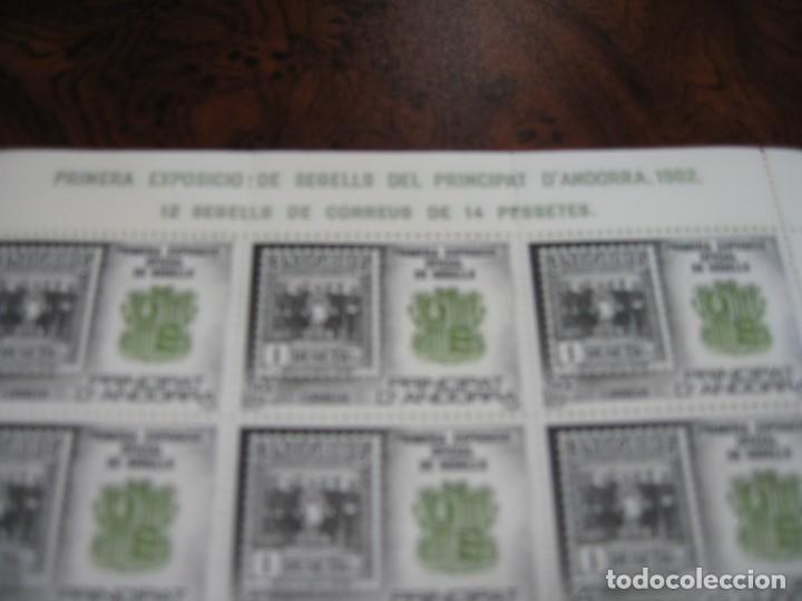 Sellos: 10 MINIPLIEGOS DE LA PRIMRA EXPOSICIÓN DE SELLO EN EL PRINCIPADO DE ANDORRA 1982 - Foto 3 - 171568909