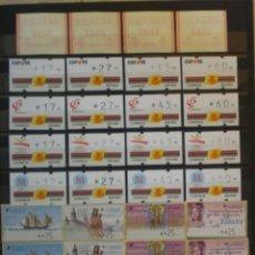 Sellos: ETIQUETAS - KLUSSENDORF Y ATM - LOTE 34 SERIES NUEVAS - EN PESETAS Y €UROS - 3 FOTOS. Lote 171719778