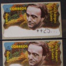 Sellos: ETIQUETAS - ATM Nº 13 - FELIX RODRIGUZ DE LA FUENTE - 4 DIGITOS - NUEVAS ** SERIE 3 VALORES. Lote 171973377