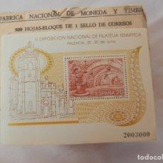 Sellos: SELLO III EXPOSICIÓN NACIONAL DE FILATELIA TEMÁTICA PALENCIA 1990. 20 PTAS. NUEVO.. Lote 172019290