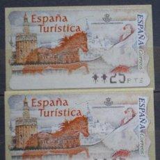 Sellos: ETIQUETAS - ATM Nº 27 - ESPAÑA TURISTICA - 4 DIGITOS - NUEVAS ** SERIE 3 VALORES EN PTS. Lote 172034069