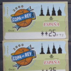 Sellos: ETIQUETAS - ATM Nº 30 - COPA DEL REY DE FUTBOL - 4 DIGITOS - NUEVAS ** SERIE 3 VALORES EN PTS. Lote 172034107