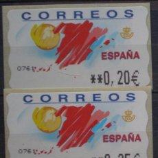Sellos: ETIQUETAS - ATM Nº 47 - TURISMO- 4 DIGITOS - NUEVAS ** SERIE 3 VALORES EN €UROS. Lote 172088564