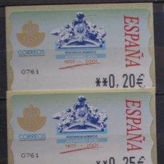 Sellos: ETIQUETAS - ATM Nº 48 - 4 DIGITOS - NUEVAS ** SERIE 3 VALORES EN €UROS. Lote 172089355