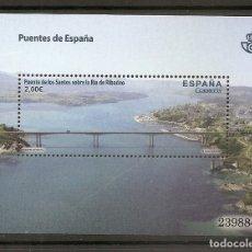 Francobolli: ESPAÑA 2013. PUENTE DE LOS SANTOS. RIBADEO. EDIFIL Nº 4795.. Lote 243153000