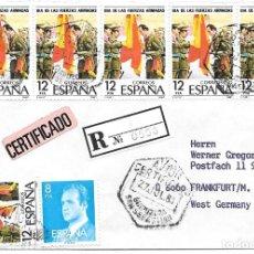 Sellos: GUIPUZCOA. CORREO AEREO. DE SAN SEBASTIAN A FRANKFURT - ALEMANIA. 1981. Lote 172390228