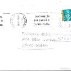 Sellos: FRAUDE AL CORREO. SOBRE CIRCULADO SIN FRANQUEO. 1994. Lote 172391047