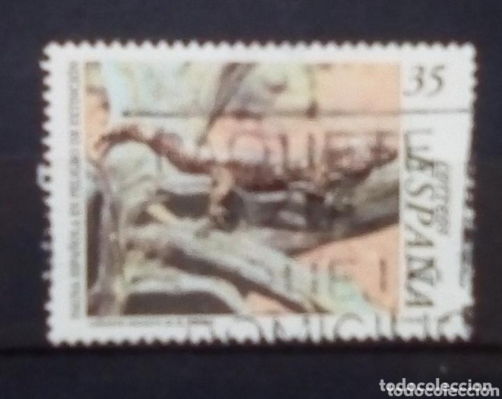 ESPAÑA LAGARTO SELLO USADO (Sellos - España - Juan Carlos I - Desde 1.986 a 1.999 - Usados)