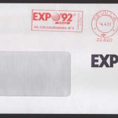Sellos: EXPO 92, VALOR, 45 + 5 PTAS,RODILLODE LA AG. COLABORADORA Nº 3, SITUADA DENTRO DEL RECINTO, TIPO I. Lote 172417838