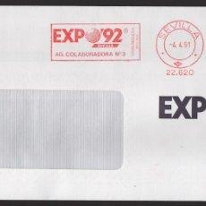 Sellos: EXPO 92, VALOR, 8 + 5 PTAS,RODILLODE LA AG. COLABORADORA Nº 3, SITUADA DENTRO DEL RECINTO, TIPO I. Lote 172417923