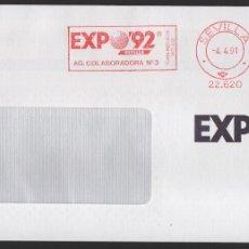 Sellos: EXPO 92, VALOR, 25 PTAS, RODILLODE LA AG. COLABORADORA Nº 3, SITUADA DENTRO DEL RECINTO, TIPO II. Lote 172418387