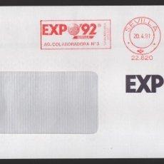 Sellos: EXPO 92, VALOR, 00 PTAS, RODILLODE LA AG. COLABORADORA Nº 3, SITUADA DENTRO DEL RECINTO, TIPO III. Lote 172418914
