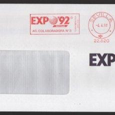 Sellos: EXPO 92, VALOR,000,00PTA RODILLODE LA AG. COLABORADORA Nº 3, SITUADA DENTRO DEL RECINTO, TIPO III. Lote 172419910