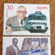 Selos: ESPAÑA : N°3347/48 MNH, TREN TALGO 1995. Lote 172630002