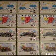 Sellos: ETIQUETAS ATM - LOTE 4 SERIES NUEVAS ** - 12 VALORES EN PTS Y €UROS. Lote 172663174