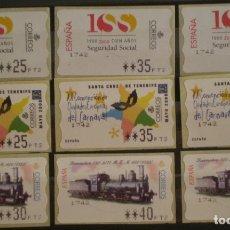 Sellos: ETIQUETAS ATM - LOTE 3 SERIES NUEVAS ** - 9 VALORES EN PTS. Lote 172663178