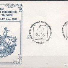 Sellos: SOBRE CON MATASELLO ESPECIAL DEL 23 SALON NAUTICO INTERNACIONAL Y CARAVANING EN BARCELONA AÑO 1985. Lote 172833568