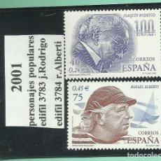 Sellos: 2 SELLOS 2001. PERSONAJES POPULARES COLECCIONISMO Y FRANQUEO. Lote 173475685