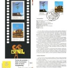 Sellos: HOJA RECUERDO PRIMER DIA EMISIÓN SERIE SELLOS CINE ESPAÑOL, CON SELLOS Y MATASELLOS OFICIAL-1997. Lote 173589214