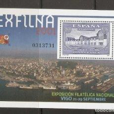 Timbres: ESPAÑA 2001. EXFILNA. EDIFIL Nº 3816. A FACIAL !!!. Lote 210835554