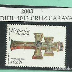 Sellos: SE4LLO 2003. CRUZ CARAVACA, FACIAL DE 0,76. Lote 173857959