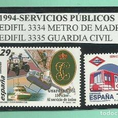 Sellos: 2 SELLOS 1994-SERVICIOS PÚBLICOS, NUEVOS. Lote 173913744