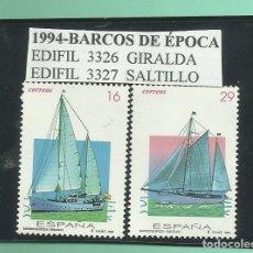 Sellos: 2 SELLOS 1994-BARCOS DE ÉPOCA, NUEVOS. Lote 173914768