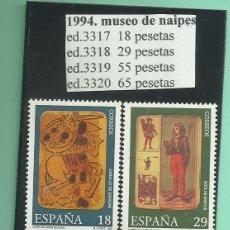 Sellos: 4 SELLOS 1994 MUSEO DE NAIPES. NUEVO. Lote 173928710