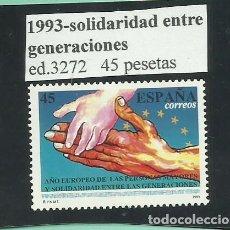 Sellos: SELLO 1993. SOLIDARIDAD ENTRE GENERACIONES. NUEVO. Lote 173935748