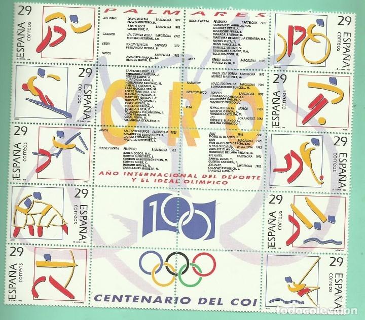 1994. DEPORTES. OLÍMPICOS DE ORO. 10 SELLOS DE 29 PESETAS (Sellos - España - Juan Carlos I - Desde 1.986 a 1.999 - Nuevos)