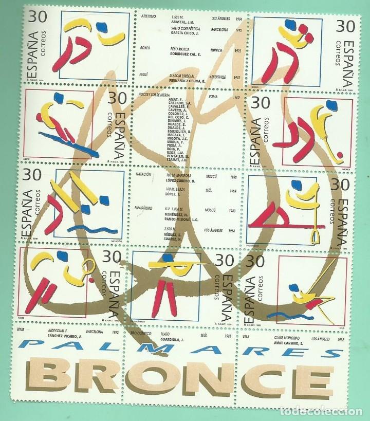 1996. DEPORTES. OLÍMPICOS DE BRONCE. 9 SELLOS DE 30 PESETAS (Sellos - España - Juan Carlos I - Desde 1.986 a 1.999 - Nuevos)