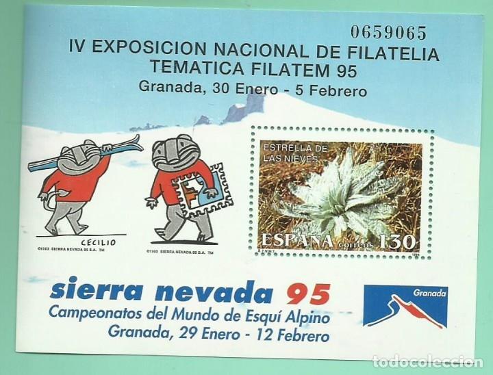 1995. SIERRA NEVADA. CAMPEONATOS DEL MUNDO DE ESQUÍ ALPINO (Sellos - España - Juan Carlos I - Desde 1.986 a 1.999 - Nuevos)