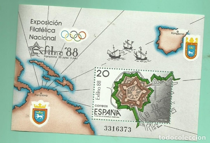 1988 EXFILNA ´88. PAMPLONA (Sellos - España - Juan Carlos I - Desde 1.986 a 1.999 - Nuevos)