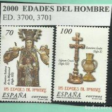 Sellos: 2 SELLOS 2000. EDADES DEL HOMBRE. Lote 174023158
