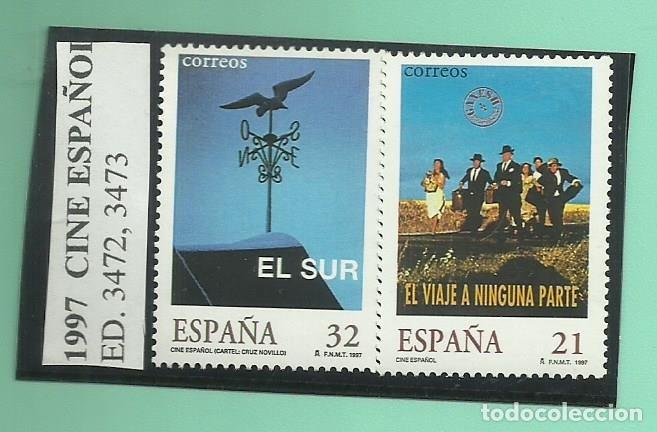 2 SELLOS 1997. CINE ESPAÑOL (Sellos - España - Juan Carlos I - Desde 1.986 a 1.999 - Nuevos)