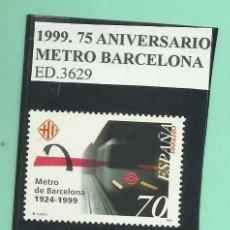 Sellos: 1999. 75 ANIVERSARIO METRO BARCELONA. Lote 174078089