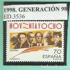 Sellos: 1998. GENERACIÓN DEL 98. Lote 174078659