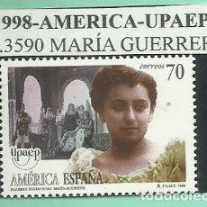Sellos: 1998. AMÉRICA-UPAEP. MARÍA GUERRERO. Lote 174080164