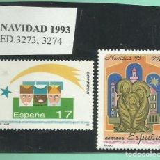 Sellos: 2 SELLOS NAVIDAD 1993. Lote 174082523
