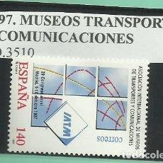 Sellos: 1997. MUSEOS TRANSPORTE Y COMUNICACIONES. Lote 174098829