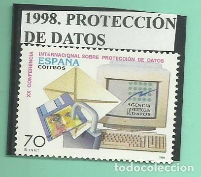 1998. PROTECCIÓN DE DATOS (Sellos - España - Juan Carlos I - Desde 2.000 - Nuevos)