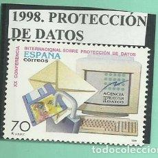 Sellos: 1998. PROTECCIÓN DE DATOS. Lote 174146369