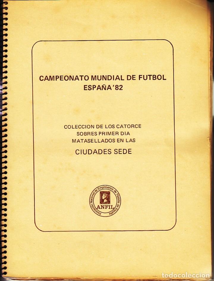 SOBRE: 14 CIUDADES SEDE CAMPEONATO MUNDIAL DE FUTBOL / ESPAÑA 82 (Sellos - España - Juan Carlos I - Desde 1.975 a 1.985 - Cartas)