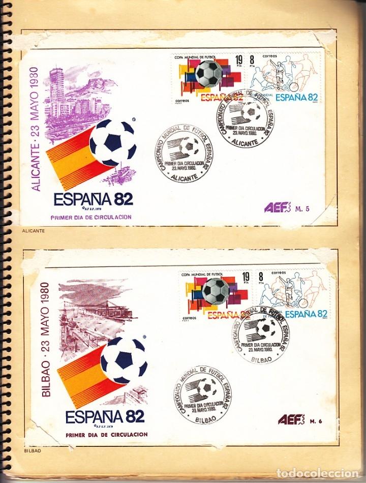 Sellos: SOBRE: 14 CIUDADES SEDE CAMPEONATO MUNDIAL DE FUTBOL / ESPAÑA 82 - Foto 2 - 174165368